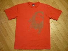 STUSSYステューシーUSA製ボブマーリー半袖Tシャツ赤レッド