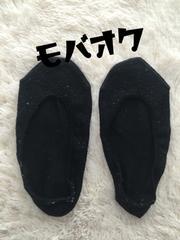 ☆タンス整理品★シンプル無地ブラックのフラットソックス★靴下