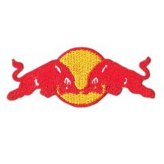 レッドブル(Red Bull)■ワッペン■黄赤白(4.2*10.3cm)-rdb005