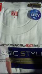 B.V.D.、BVD、クールネックTシャツ2枚入り新品未開封品 L ホワイト 白