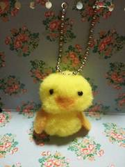 ハンドメイド黄色い鳥ひよこちゃんボールチェーン