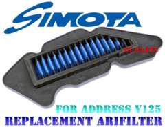 高品質アドレスV125GアドレスV125S SIMOTAリプレイスメント高耐圧エアフィルター