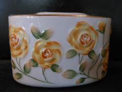 2940★1スタ★陶器製 薔薇 ペンスタンド/ペン収納ボックス 文房具