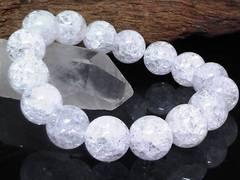 クラック水晶12ミリ§爆裂水晶数珠