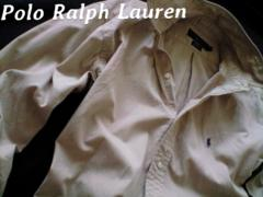 【POLO】ラルフローレン Vintage Washed ツイルシャツ M/Khaki