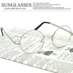 新品 おしゃれ 丸眼鏡 メンズ レディース ラウンド サングラス UV 丸型 クリア