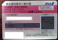 【出張・春休みの旅行に】17.05.31まで ANA株主優待券