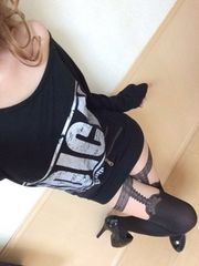 sexyオフショル☆かすれロゴ☆ドルマン☆チュニ丈カットソー☆BK