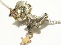 名門starスタージュエリー18金とシルバー925芸術的な立体デザインネックレス1品限