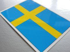 1□スウェーデン国旗ステッカー(A)☆1枚即買☆車 VOLVOに