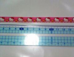 10mm巾 キティとくまちゃん柄リボン1M