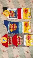 新品アンパンマン靴下3足セット定価\1620キッズキャラクター ソックス