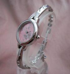 チョウ柄のラインストーンブレス腕時計