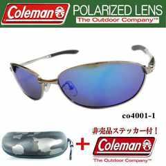 【送料無料】コールマン 偏光サングラス co4001-1ケース付迷彩BK