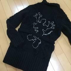 新品◆ディズニーミッキーマウス◆ガウン型ウールニットコート