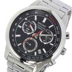 セイコー  クロノ クオーツ メンズ 腕時計 SSB205P1 ブラック
