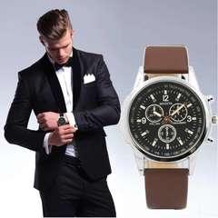 腕時計 メンズ クォーツ腕時計 高品質 ゴムベルト ウォッチ 茶
