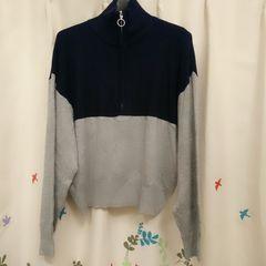新品★GU/ジップアップセーター★L
