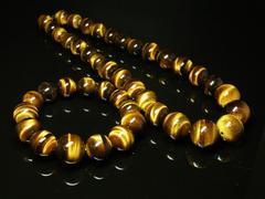 金運を一気に上げる数珠 タイガーアイブレスレット&ネックレスセット価格