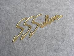 ■アクリル切り文字『SSSalon』ゴールド■