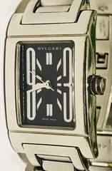 良品ブルガリレッタンゴロレディース時計稼働品黒文字盤ブレス