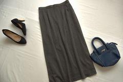 Lサイズ 可愛いマキシスカート グレー♪