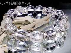 天然石★薔薇彫がポイント水晶クリスタル数珠