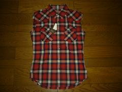 新品DELAY win&sonsチェックシャツベスト2赤ウィンアンドサンズ