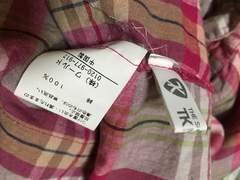 T.Kタケオキクチ、ピンク系ロングシャツ袖七分丈フリーサイズ