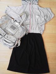 新品アーバンリサーチオーガニックコットンrelaxな休日楽ちんスカート