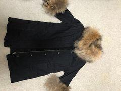 DURAS ファー付きコートジャケット