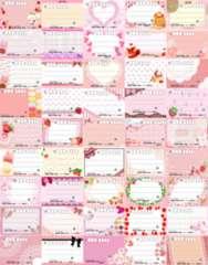 *◎B-ピンク系◎種類豊富★宛名シールセット*45種45枚♪