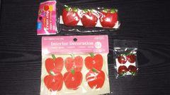 まとめ売り りんごの形したピンチ・クリップ3種類