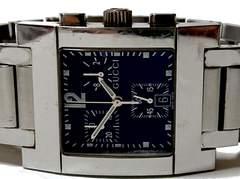 正規 良品★グッチ 定価14万 7700【クロノグラフ】メンズ腕時計