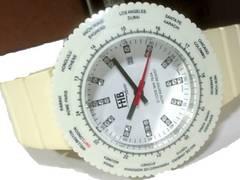 極美品【専用箱】1スタ★FHB【ジルコニア】メンズ腕時計
