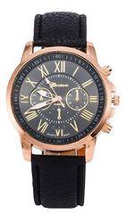 500均★スーツに似合う腕時計 ブラック 初期不良保証