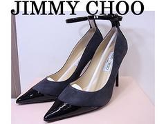 即買 JimmyChoo ジミーチュウ BALMA パンプス 36 新品 黒グレー★dot