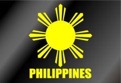 ∇フィリピン国章カッティングステッカー M∇国旗