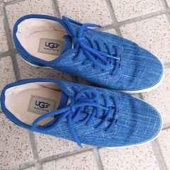 ◆UGG/アグ◆スニーカー*ブルー6.5★JPN23.5♪状態◎フラットシューズ