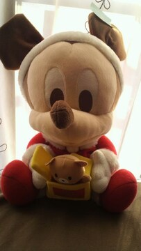 クリスマス ミッキー ベビーぬいぐるみ ディズニー サンタさん