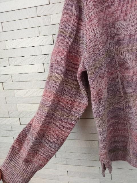 美品/MODE DONALLE/婦人服/ハイネックニットセーター/ピンク/M-L < 女性ファッションの