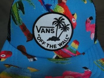 バンズ【Vans】南国風デザイン ワッペンロゴ刺繍メッシュCAP