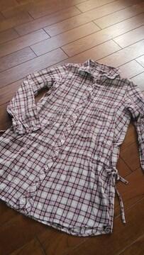 【美品】SABUROKU◆サブロク◆ウエスト絞ロングシャツ/ワンピ