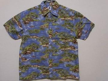 即決USA古着●GAPギャップ総柄デザイン半袖シャツ!アメカジ・ハワイアン・アロハ
