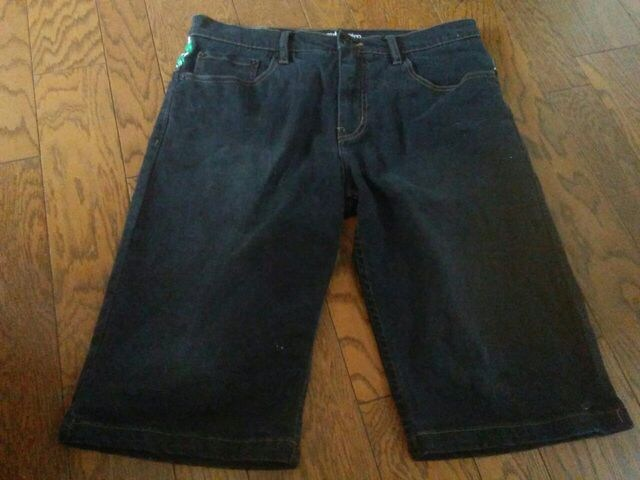 element denim 34号 デニム 短パンツ 美品 < 男性ファッションの