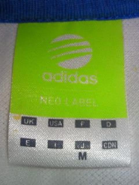 adidas アディダス NEO LABEL シンプル ポロシャツ トリコロール Mサイズ ホワイト < ブランドの