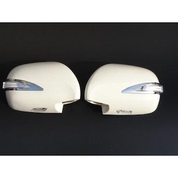 トヨタ レクサスルックLEDドアミラーカバー 交換式 白 ハイエース200系