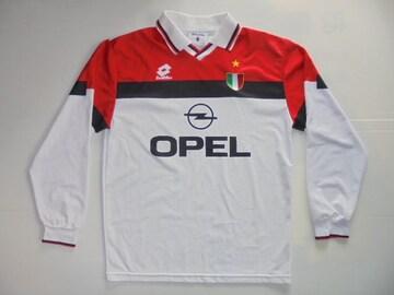 1994-1995ロットサッカーACミランシャツユニフォームイタリア製M