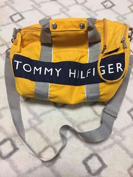 TOMMY HILFIGER トミー イエロー ショルダー   バッグ(^_^)