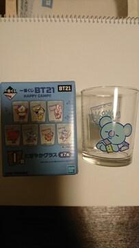 BT21 一番くじ I賞にぎやかグラス KOYA